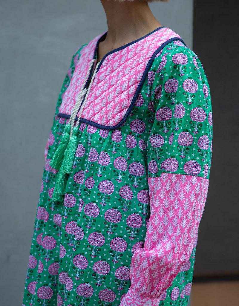 SZ Blockprints SZ Jodhpur Pineapple Mint Medium