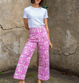SZ Blockprints SZ Blockprint Disco Pants, Pink Padra - Small