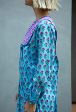 SZ Blockprints SZ Blockprints Kitty Dress Lakshmi Blue Large