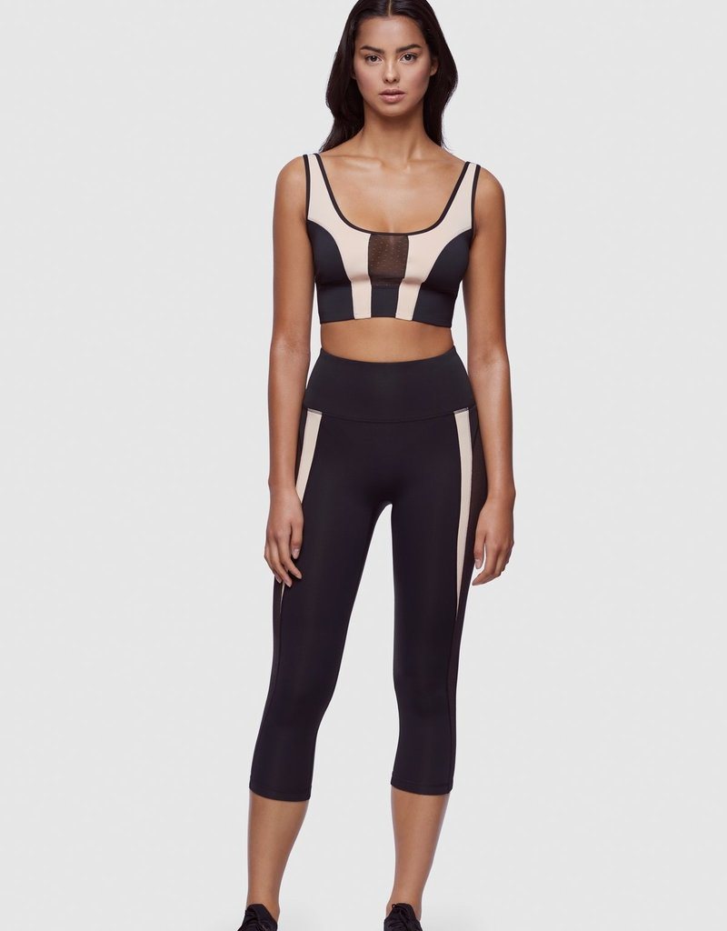 Kiki de Montparnasse Kiki de Montparnasse Dotted Mesh Cropped Bra Top, Small