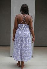 SZ Blockprints SZ Blockprints Tier Dress, Violet Nila - Medium
