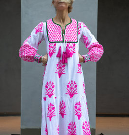SZ Blockprints SZ Blockprints Jodhpur Dress, Palladio Hot Pink - Small