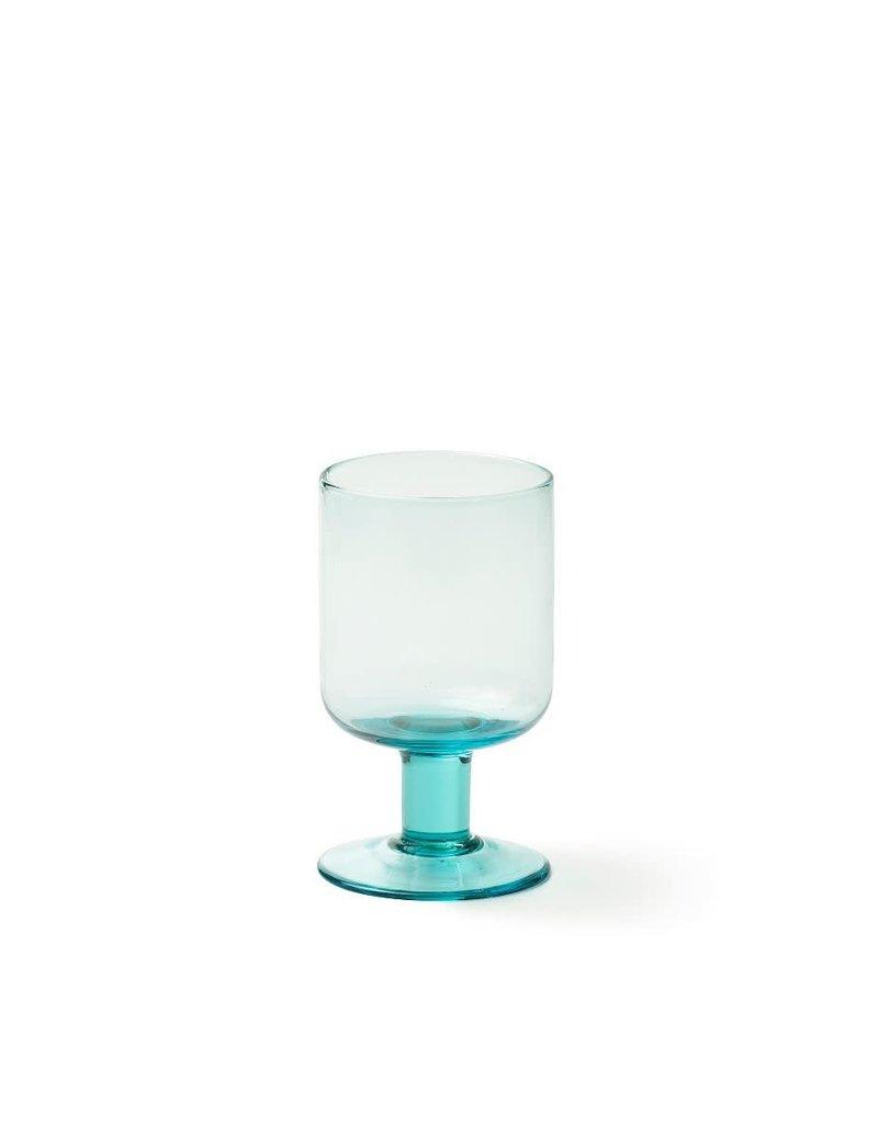 BITOSSI Bitossi Bloom Wine Glass, Aqua