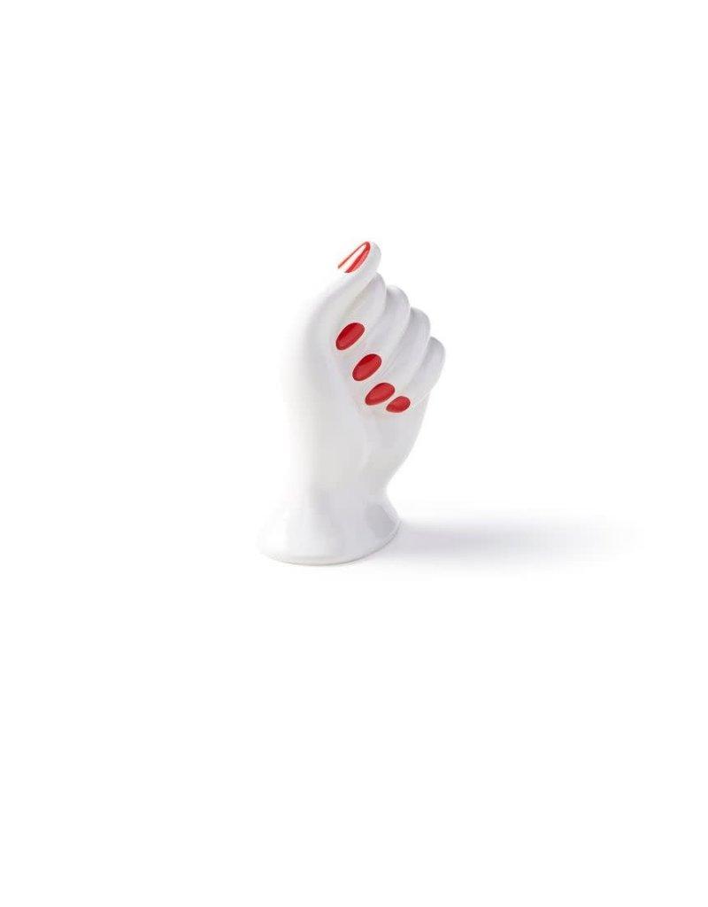 BITOSSI Bitossi Ceramic Hand Vase Red Nail