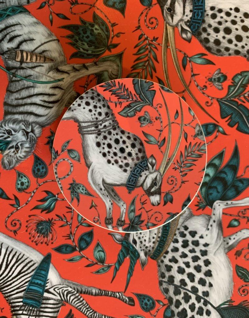 Emma J. Shipley Emma J Shipley Protea Coral Round Tray