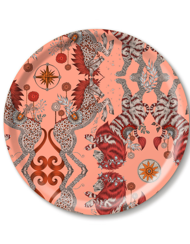 Emma J. Shipley Emma J Shipley Caspian Coral Round Tray