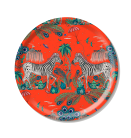 Emma J. Shipley Emma J Shipley Lost World Red Round Tray