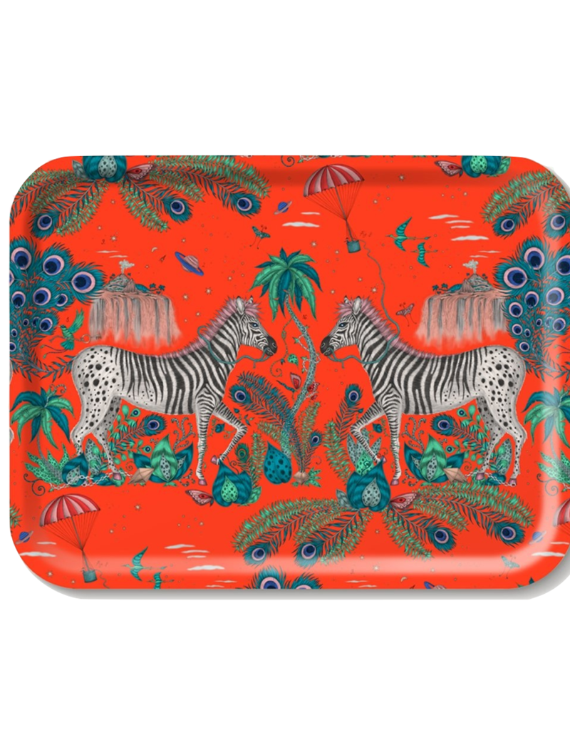 Emma J. Shipley Emma J Shipley Lost World Medium Red Tray