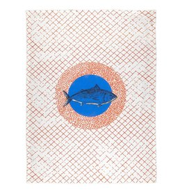 BITOSSI Bitossi Blue Fish Tea Towel