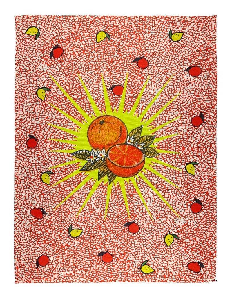 BITOSSI Bitossi Orange Burst Tea Towel