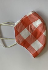 Tracy Feith Tracy Feith Coral Jumbo Gingham Face Mask