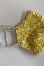 Tracy Feith Tracy Feith Vintage Yellow Bunnies Face Mask