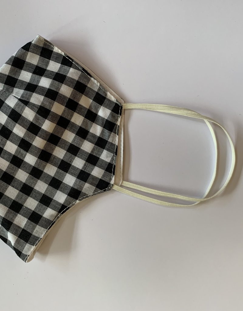 Tracy Feith Tracy Feith Black Gingham Face Mask
