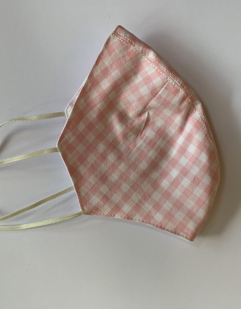 Tracy Feith Tracy Feith Pink Gingham Face Mask