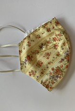 Tracy Feith Tracy Feith Vintage Floral Stripe Yellow Face Mask