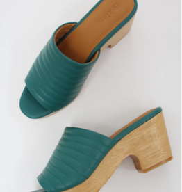 Beklina Beklina Ribbed Clog Open Toe Cypress