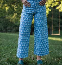 SZ Blockprints SZ Blockprints Disco Pants, Bagru Shale Blue - Small
