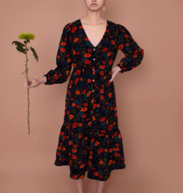 Meadows Meadows Orchard Dress Navy Floral Corduroy