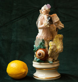 Jen Deibert Blue Shoe and Shells Crystal Statue