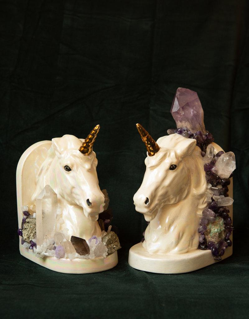 Jen Deibert Unicorn Bookend Crystal Status