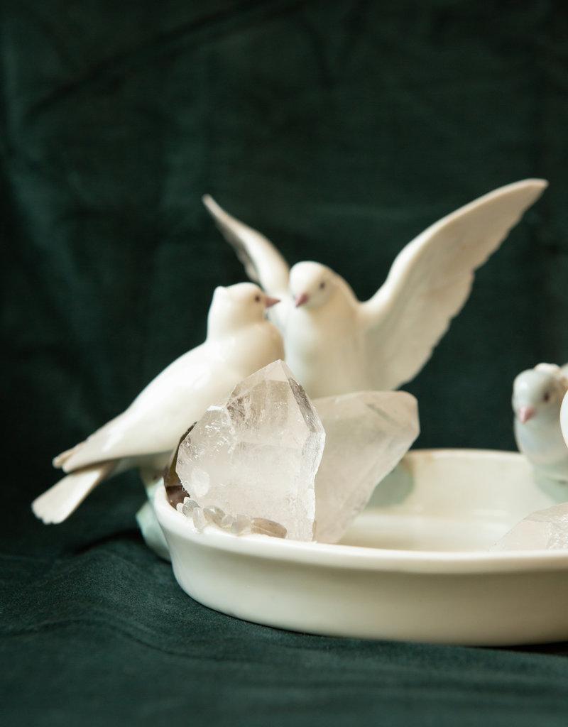 Jen Deibert Pigeon Crystal Statue