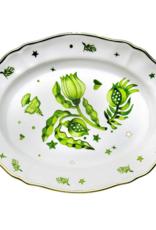 BITOSSI Bitossi Oval Platter Floral Green
