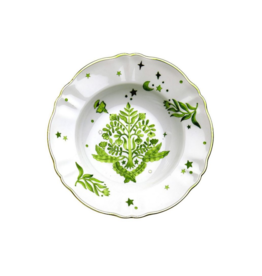 BITOSSI Bitossi Deep Plate Floral Green