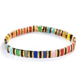 SHASHI SHASHI  Tilu Bracelet - Black Rainbow