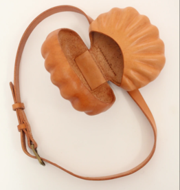 Beklina Beklina Leather Shell Belt Bag Natural