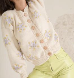 Tach Tach Lucero Sweater Beige & Lilac