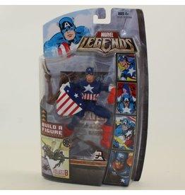 """Hasbro 2007 Marvel Legends 6"""" Captain America Action Figure - Queen Brood BAF Series"""
