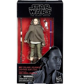 Hasbro Star Wars: (The Last Jedi) Black Series 6-inch Rey [Island Journey] Action Figure