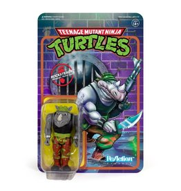 Super7 TMNT ReAction Rocksteady Figure