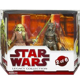 Hasbro Star Wars Attack of the Clones Legacy Collection 2009 Geonosis Arena Showdown Kit Fisto & Geonosian Warrior Exclusive Action Figure 2-Pack #2 of 6