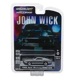 Greenlight John Wick 2014 1:64 Scale 1969 Ford Mustang BOSS 429 Die Cast Metal Vehicle