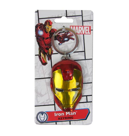 Monogram Iron Man Face Colored Pewter Keychain
