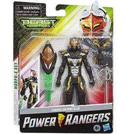 "Hasbro Power Rangers Beast Morphers Cybervillain Robo Blaze 6"" Action Figure Toy"