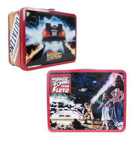 Factory Entertainment Back to the Future Outatime Retro Style Tin Tote Lunch Box