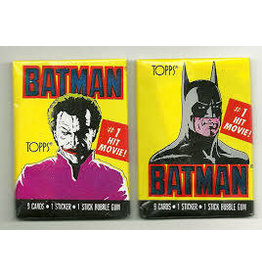 Topps 1989 TOPPS BATMAN Series 1 Red Movie Trading Cards Individual Pack