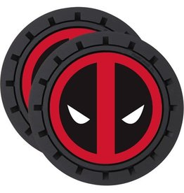 Plasticolor Deadpool 2-Pack Car Cup Coaster Set