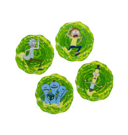 Paladone Rick and Morty Lenticular Coasters 4-Pack