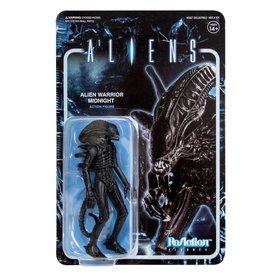 Super7 Aliens ReAction Figure - Alien Warrior A (Midnight Black)