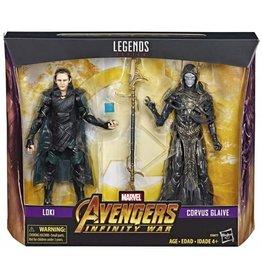 Hasbro Marvel Legends Avengers: Infinity War Loki & Corvus Glaive Exclusive  2-Pack