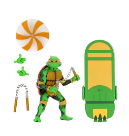 NECA Teenage Mutant Ninja Turtles – 7″ Scale Action Figure – Turtles in Time Series 2 - Michaelangelo