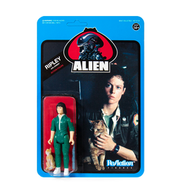 Super7 Alien ReAction Figure - Ripley with Jonesy (Blue Card)