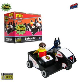 Pin Mates Batman Classic TV Series Batcycle with Batman and Robin Wooden Collectible Pin Mates Set - Convention Exclusive
