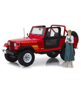 Greenlight Collectibles Terminator 1983 Jeep CJ-7 Renegade 1:18 Scale Die-Cast Vehicle with Sarah Connor Figure