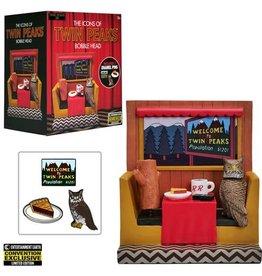 Bif Bang Pow Twin Peaks Icons Bobble Head with Enamel Pin Set #1 Exclusive