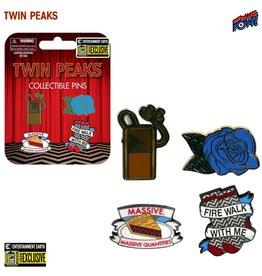 Bif Bang Pow Twin Peaks Enamel Pin Set of 4 - Entertainment Earth Exclusive