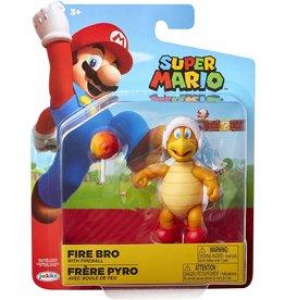 Jakks Super Mario Fire Bro Action Figure [With Fireball]